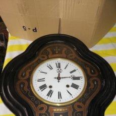 Relojes de pared: PRECIOSO RELOJ OJO DE BUEY SIGLO XIX INCRUSTACIONES. Lote 174058320