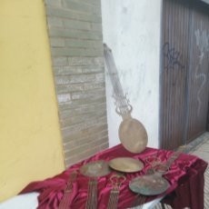 Relojes de pared: ANTIGUO LOTE DE 5 PÉNDULOS PARA RELOJES MOREZ SIGLO XIX. Lote 174059882