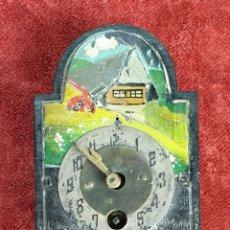 Relojes de pared: RELOJ DE PARED. RATERA EN MINIATURA. FRONTAL DE MADERA. SIGLO XIX-XX. . Lote 175015894