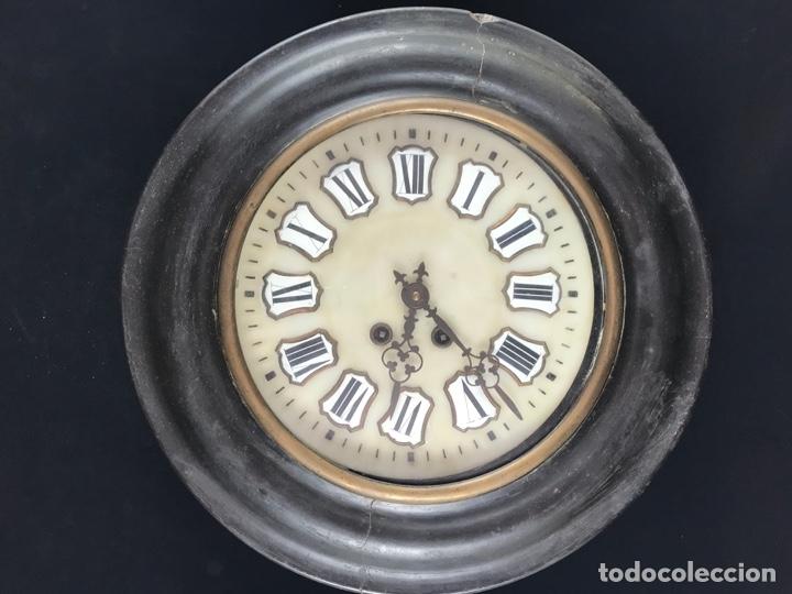 ANTIGUO RELOJ DE PARED ESTILO ISABELINO OJO DE BUEY - SIGLO XIX-XX (Relojes - Pared Carga Manual)