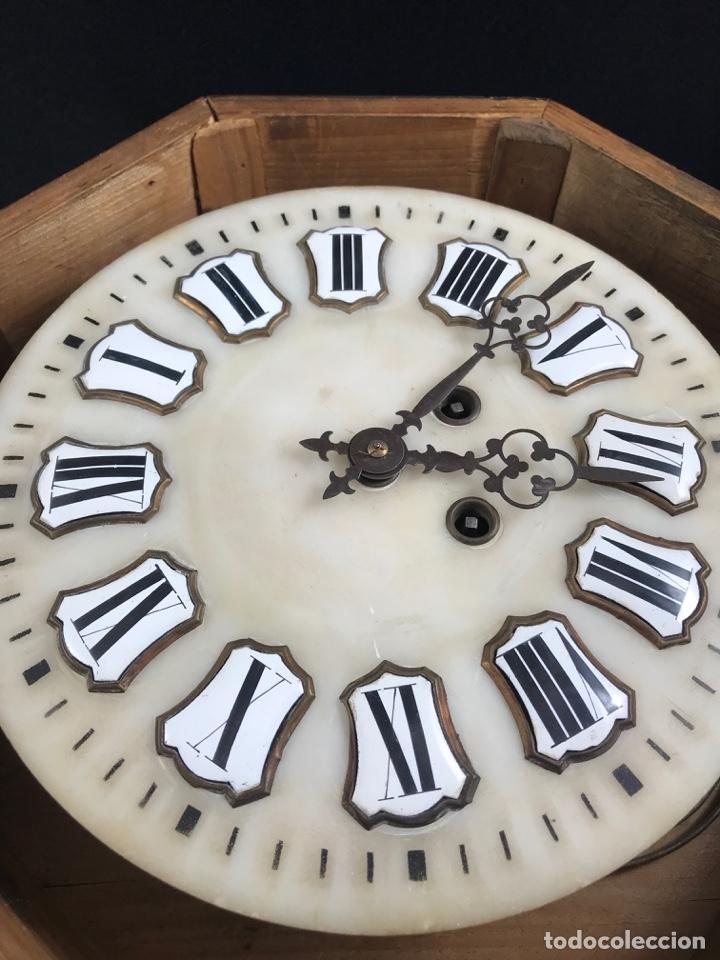 Relojes de pared: ANTIGUO RELOJ DE PARED ESTILO ISABELINO OJO DE BUEY - SIGLO XIX-XX - Foto 4 - 175045223