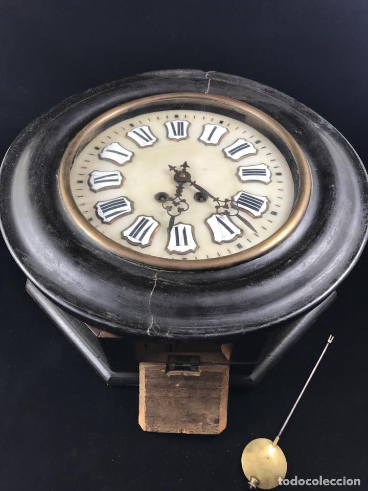 Relojes de pared: ANTIGUO RELOJ DE PARED ESTILO ISABELINO OJO DE BUEY - SIGLO XIX-XX - Foto 6 - 175045223
