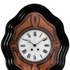Relojes de pared: ANTIGUO RELOJ FRANCÉS OJO DE BUEY AÑO 1920,EXCELENTE ESTADO , Y FUNCIONANDO, CON MAQUINA DE CUERDA. Lote 175312139