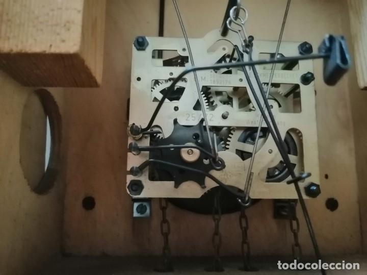Relojes de pared: RELOJ CUCU-CUCO IN VINO VERITAS .MADE IN WEST GERMANY. MECÁNICO Y FUNCIONANDO. - Foto 14 - 175342258