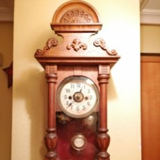 Relojes de pared: ANTIGUO RELOJ DE PARED CON ALARMA-DESPERTADOR. MECÁNICO Y FUNCIONANDO.. Lote 175343700