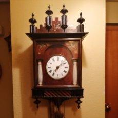 Relojes de pared: ANTIGUO RELOJ RATERA SELVA NEGRA SIGLO XIX. MECÁNICO Y FUNCIONANDO.. Lote 175349069