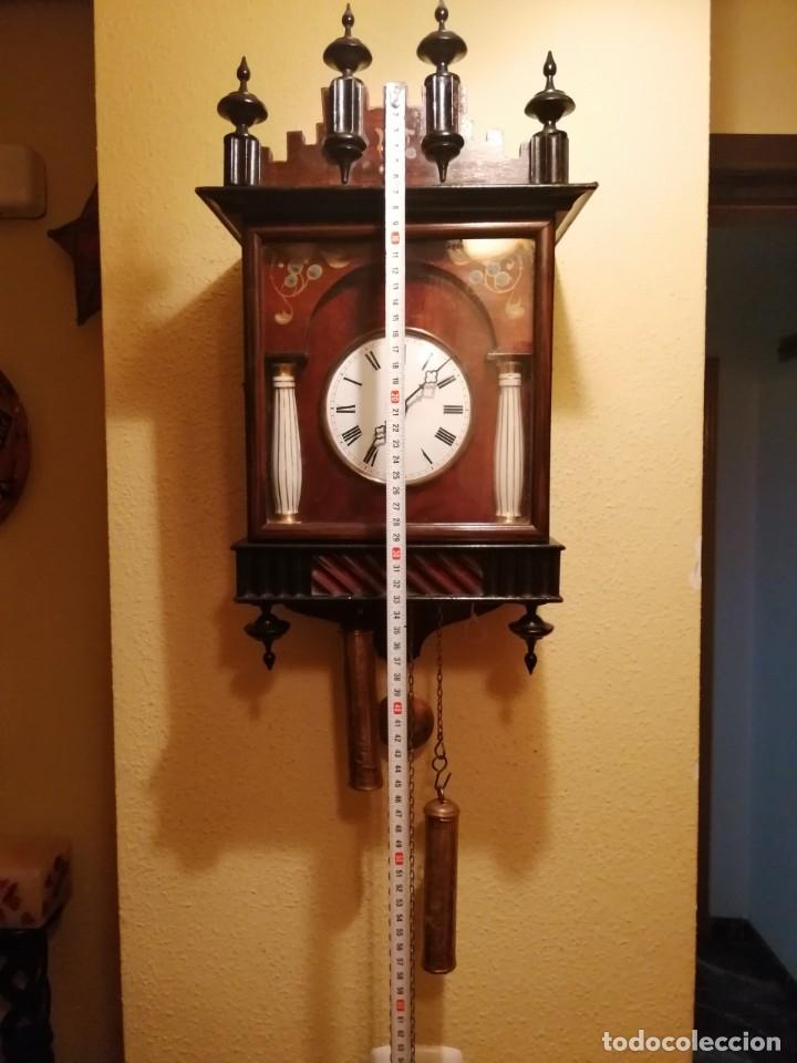 Relojes de pared: ANTIGUO RELOJ RATERA SELVA NEGRA SIGLO XIX. MECÁNICO Y FUNCIONANDO. - Foto 2 - 175349069