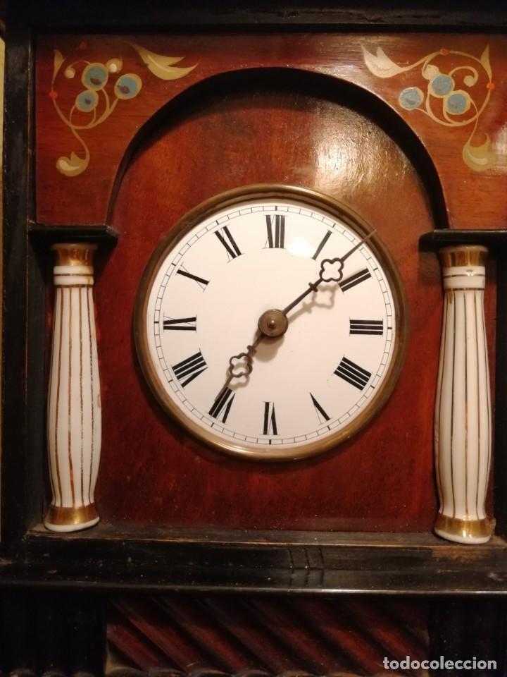 Relojes de pared: ANTIGUO RELOJ RATERA SELVA NEGRA SIGLO XIX. MECÁNICO Y FUNCIONANDO. - Foto 12 - 175349069
