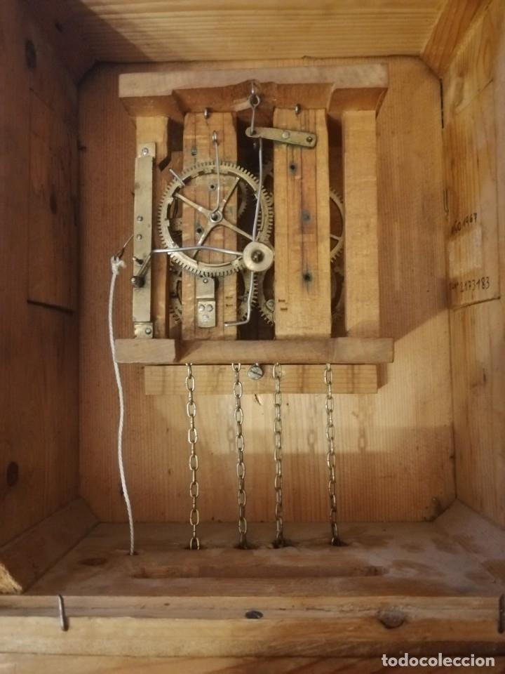 Relojes de pared: ANTIGUO RELOJ RATERA SELVA NEGRA SIGLO XIX. MECÁNICO Y FUNCIONANDO. - Foto 19 - 175349069