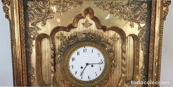 Relojes de pared: RELOJ DE PARED. ESTILO SEGUNDO IMPERIO. MAQUINARIA PARÍS. SIGLO XIX. - Foto 4 - 175479528