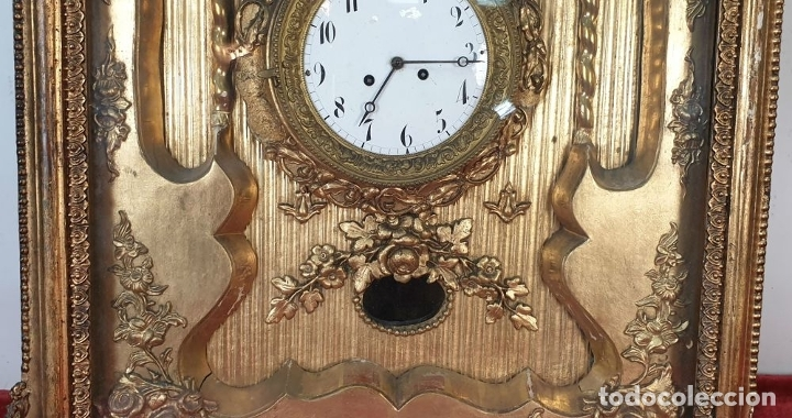 Relojes de pared: RELOJ DE PARED. ESTILO SEGUNDO IMPERIO. MAQUINARIA PARÍS. SIGLO XIX. - Foto 6 - 175479528