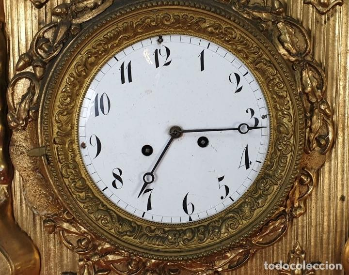 Relojes de pared: RELOJ DE PARED. ESTILO SEGUNDO IMPERIO. MAQUINARIA PARÍS. SIGLO XIX. - Foto 10 - 175479528