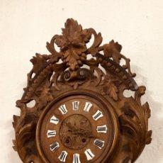 Relojes de pared: RELOJ DE PARED DE MADERA.. Lote 151218693