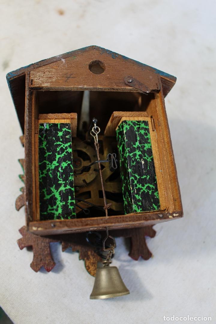Relojes de pared: reloj cuco de madera repintada para restaurar - Foto 4 - 176148408