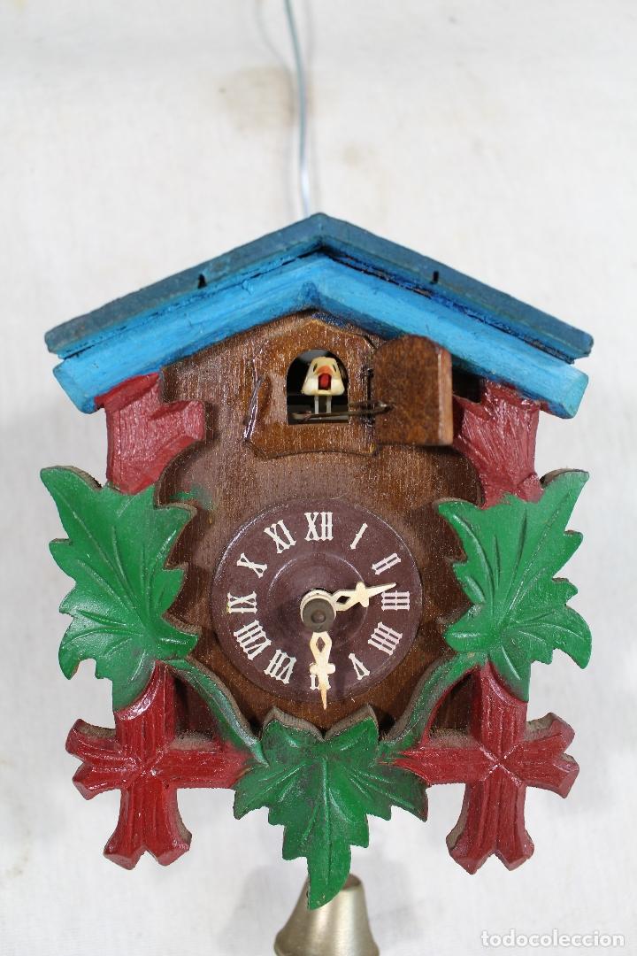 Relojes de pared: reloj cuco de madera repintada para restaurar - Foto 5 - 176148408