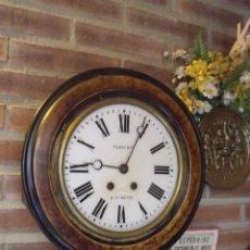 Relojes de pared: ¡¡GRAN OFERTA!!! ANTIGUO RELOJ DE ESCUELA- AÑO 1880-LOTE 211-FUNCIONA. Lote 176218922