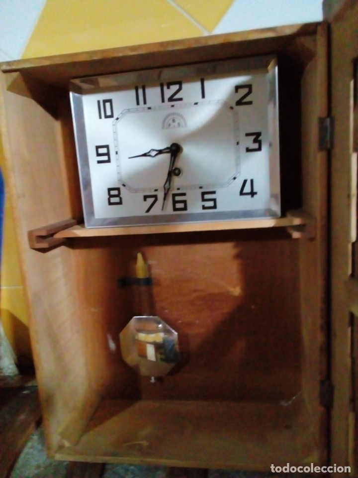 Relojes de pared: ANTIGUO RELOJ DE PARED - Foto 4 - 130998836