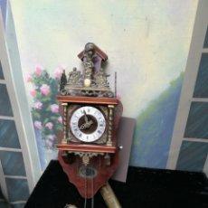 Relojes de pared: VIEJO RELOJ HOLANDÉS FRANZ HERMLE PARA RESTAURAR. Lote 176334499