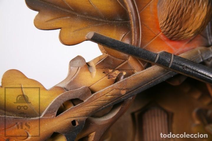 Relojes de pared: Reloj de Cuco Alemán Regula - Madera Tallada / Motivos de Caza o Cinegética - Funcionando - Foto 9 - 177116065