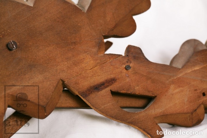 Relojes de pared: Reloj de Cuco Alemán Regula - Madera Tallada / Motivos de Caza o Cinegética - Funcionando - Foto 11 - 177116065