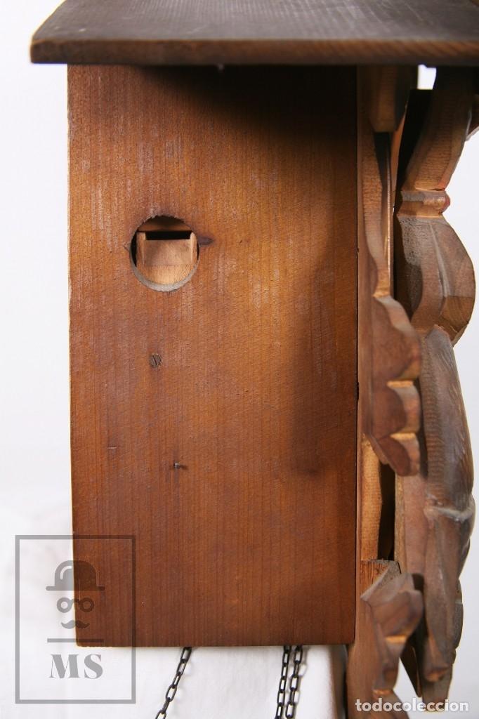 Relojes de pared: Reloj de Cuco Alemán Regula - Madera Tallada / Motivos de Caza o Cinegética - Funcionando - Foto 13 - 177116065