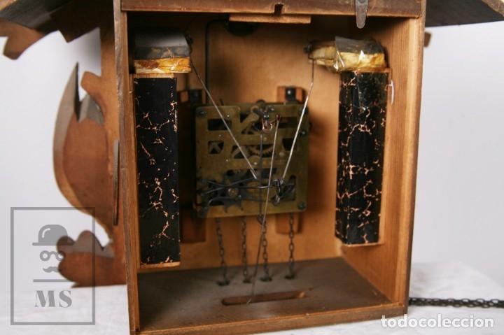 Relojes de pared: Reloj de Cuco Alemán Regula - Madera Tallada / Motivos de Caza o Cinegética - Funcionando - Foto 17 - 177116065