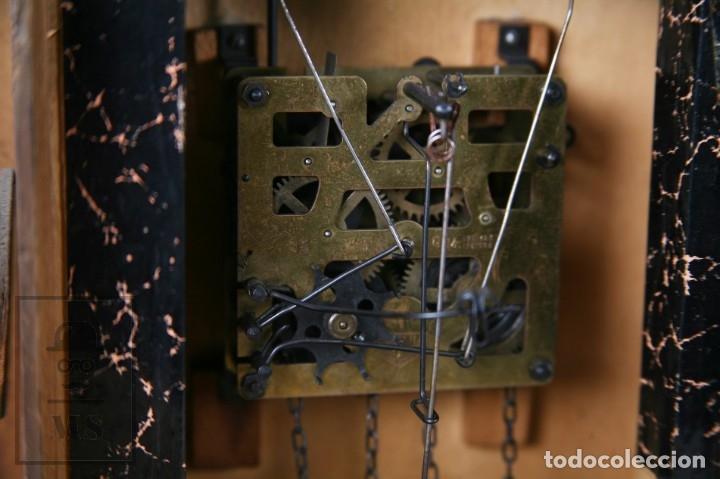 Relojes de pared: Reloj de Cuco Alemán Regula - Madera Tallada / Motivos de Caza o Cinegética - Funcionando - Foto 19 - 177116065