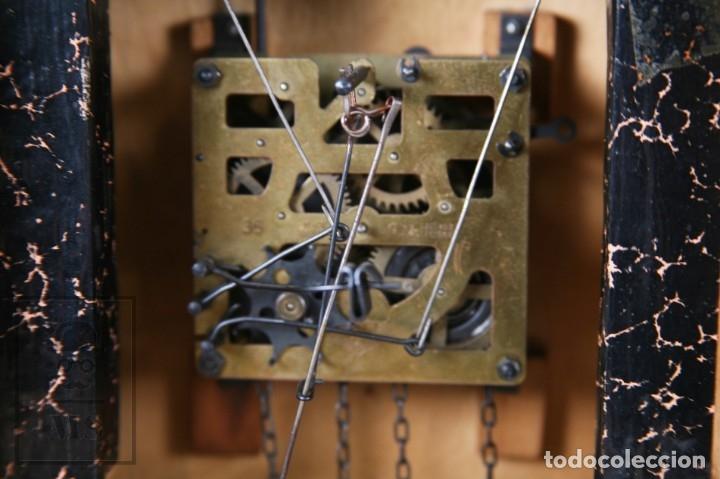 Relojes de pared: Reloj de Cuco Alemán Regula - Madera Tallada / Motivos de Caza o Cinegética - Funcionando - Foto 20 - 177116065
