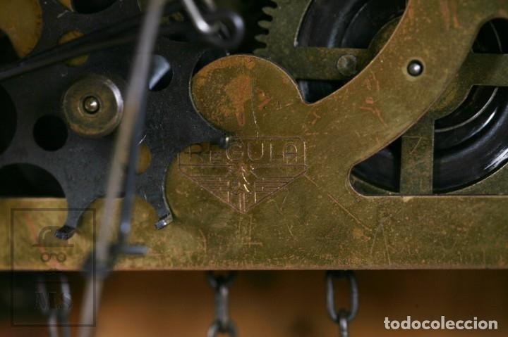 Relojes de pared: Reloj de Cuco Alemán Regula - Madera Tallada / Motivos de Caza o Cinegética - Funcionando - Foto 22 - 177116065
