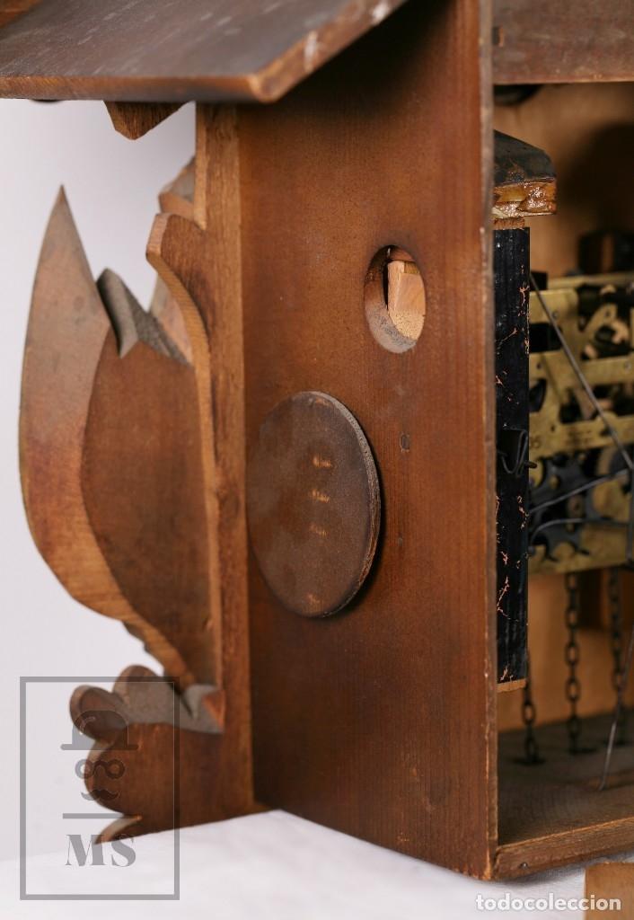 Relojes de pared: Reloj de Cuco Alemán Regula - Madera Tallada / Motivos de Caza o Cinegética - Funcionando - Foto 23 - 177116065