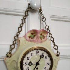 Relojes de pared: RELOJ ART DECO CERAMICA PPIOS S. XX. Lote 177745195