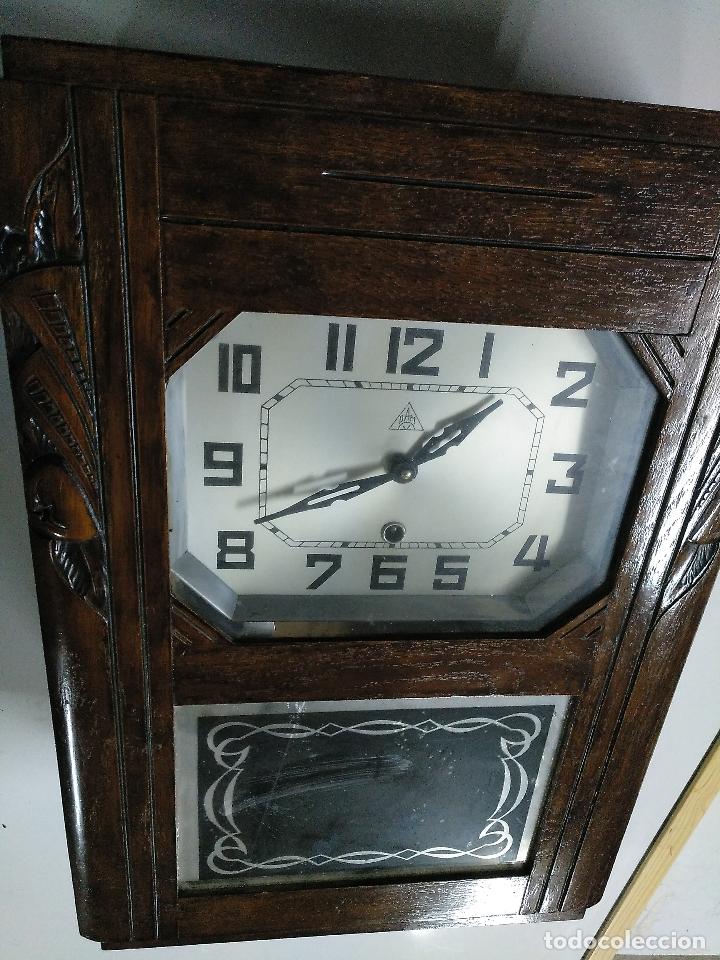 Relojes de pared: Reloj antiguo de pared de madera - Foto 2 - 178404040