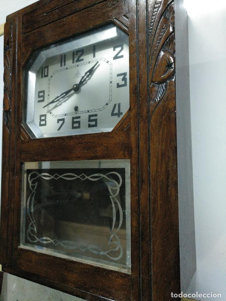 Relojes de pared: Reloj antiguo de pared de madera - Foto 3 - 178404040