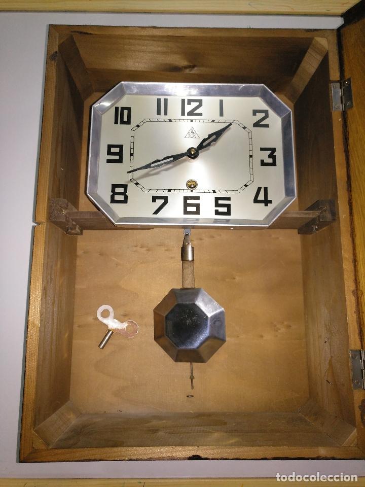 Relojes de pared: Reloj antiguo de pared de madera - Foto 4 - 178404040