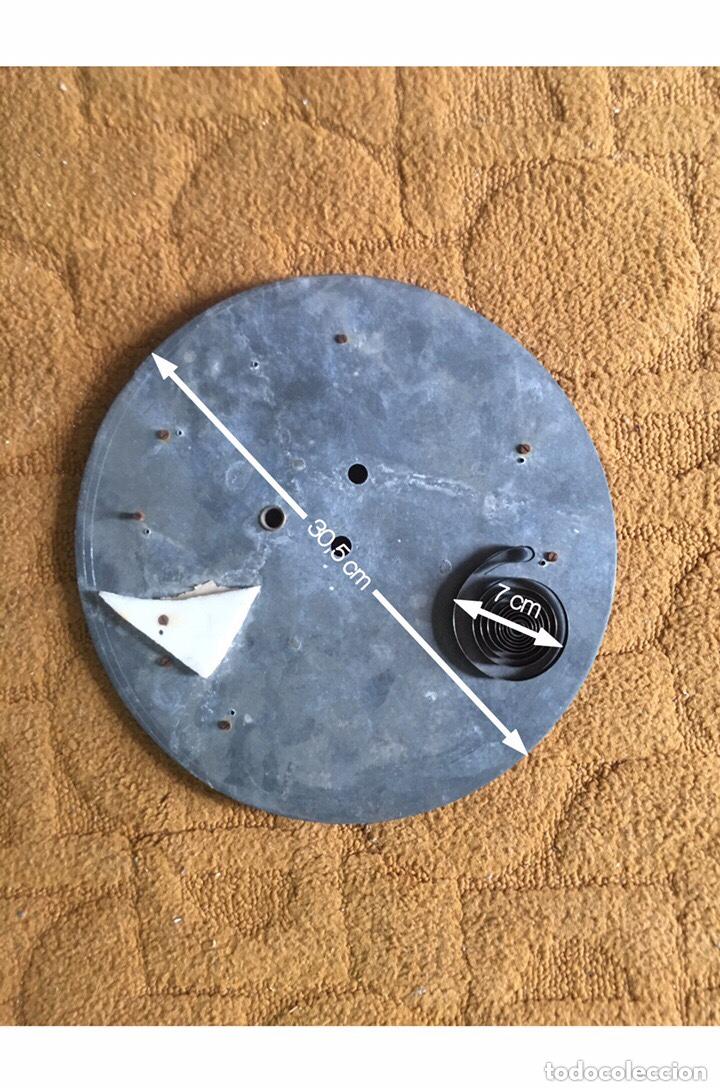 Relojes de pared: Esfera de reloj antiguo de cristal con números en cerámica esmaltada y marco latón dorado + Regalo - Foto 10 - 178856618