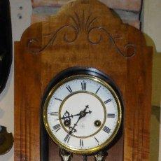 Relojes de pared: RELOJ ANTIGUO DE PARED JUNGHANS CON CAJA. CARGA MANUAL DE SEMANA. FUNCIONANDO. EXCEPTO LA SONERÍA. Lote 178880672