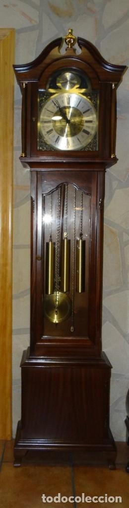 Relojes de pared: RELOJ CARRILLÓN DE PIE MADERA DE CAOBA - Foto 2 - 178963252