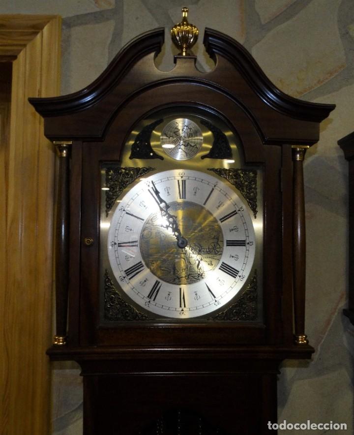 Relojes de pared: RELOJ CARRILLÓN DE PIE MADERA DE CAOBA - Foto 3 - 178963252