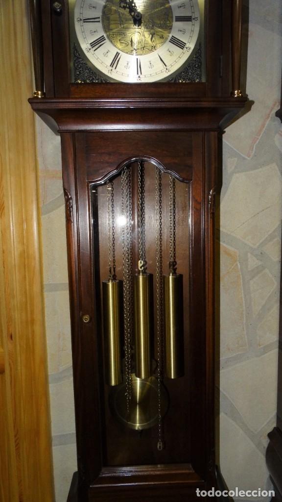Relojes de pared: RELOJ CARRILLÓN DE PIE MADERA DE CAOBA - Foto 4 - 178963252
