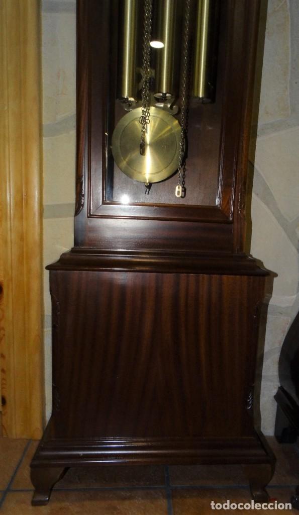 Relojes de pared: RELOJ CARRILLÓN DE PIE MADERA DE CAOBA - Foto 5 - 178963252