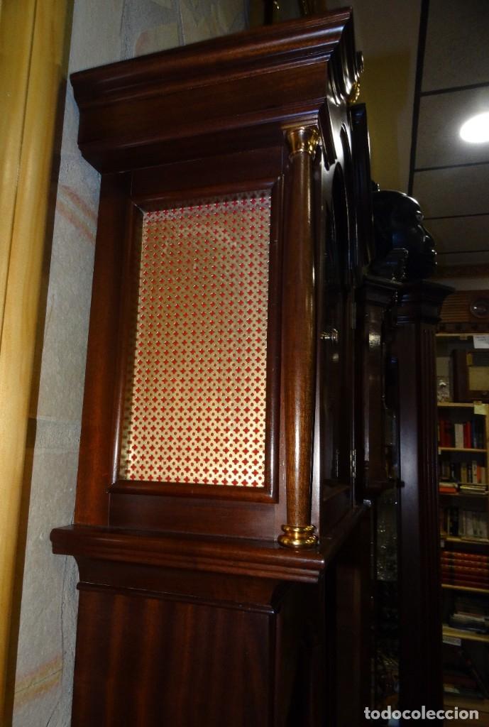 Relojes de pared: RELOJ CARRILLÓN DE PIE MADERA DE CAOBA - Foto 6 - 178963252