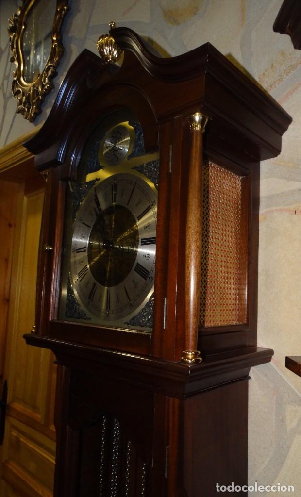 Relojes de pared: RELOJ CARRILLÓN DE PIE MADERA DE CAOBA - Foto 7 - 178963252