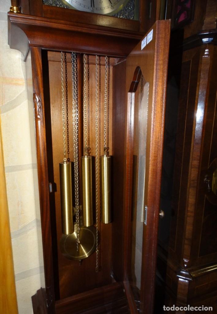 Relojes de pared: RELOJ CARRILLÓN DE PIE MADERA DE CAOBA - Foto 9 - 178963252