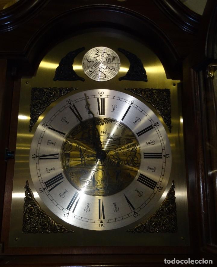 Relojes de pared: RELOJ CARRILLÓN DE PIE MADERA DE CAOBA - Foto 10 - 178963252