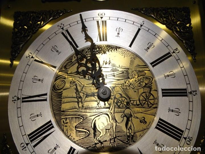 Relojes de pared: RELOJ CARRILLÓN DE PIE MADERA DE CAOBA - Foto 11 - 178963252