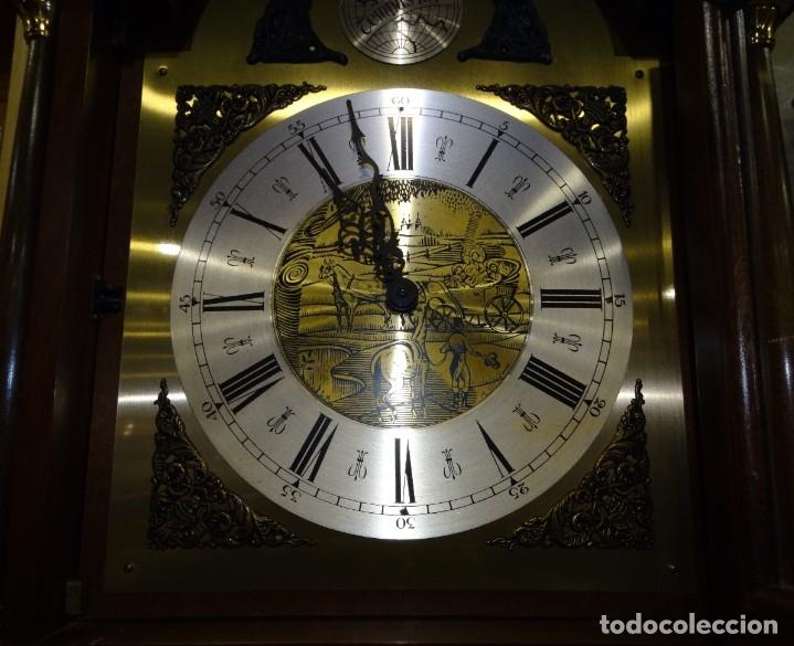Relojes de pared: RELOJ CARRILLÓN DE PIE MADERA DE CAOBA - Foto 12 - 178963252