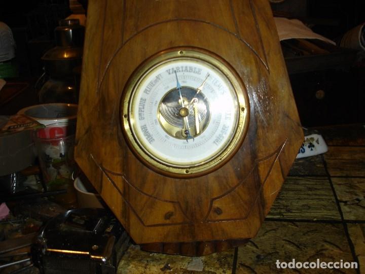 Relojes de pared: muy bonito y perfecto barometro termometro art deco de ver fotos - Foto 2 - 179125632
