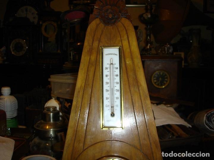 Relojes de pared: muy bonito y perfecto barometro termometro art deco de ver fotos - Foto 3 - 179125632