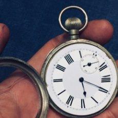 Relojes de pared: RELOJ MECANISMO PAUL BORDIER GENEVE SUIZA CAJA RAILWAY REGULATOR 19128 45MM. Lote 179239461