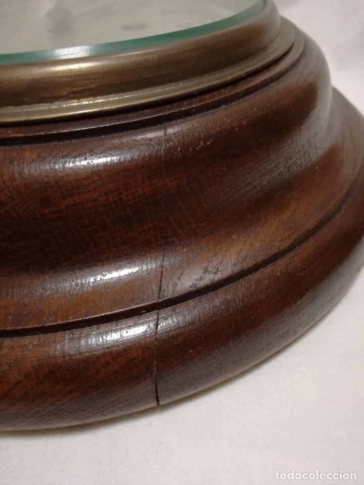 Relojes de pared: ANTIGUO RELOJ DE PARED INGLES - TIPO BARCO OJO DE BUEY REDONDO - CON LLAVE (FUNCIONANDO) - Foto 9 - 179539361